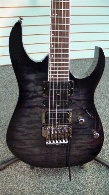 ibanez rg370qmsp price reduced wizard neck edge iii tremolo coil tap transparent gray burst reverb. Black Bedroom Furniture Sets. Home Design Ideas