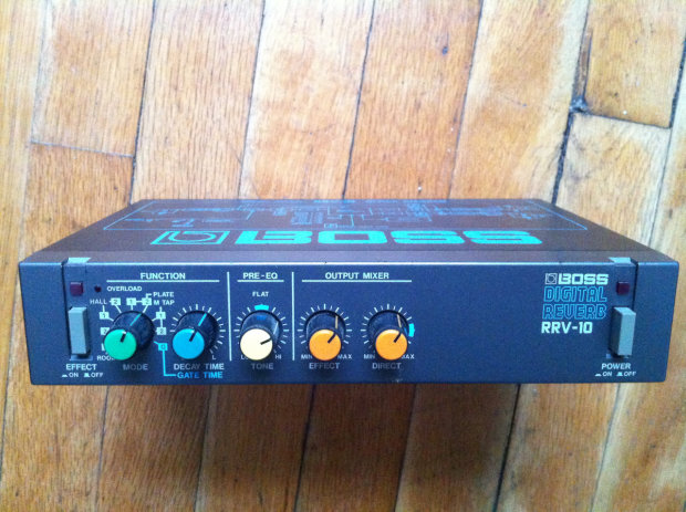 boss rrv 10 digital reverb rack pedal reverse microverb reverb. Black Bedroom Furniture Sets. Home Design Ideas