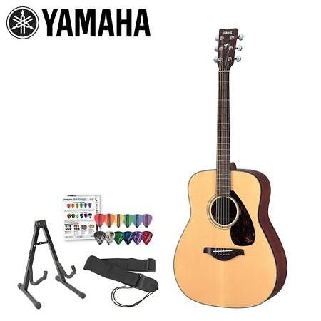 Yamaha jf fg700s kit 3 acoustic guitar kit with strap for Yamaha fg700s dimensions
