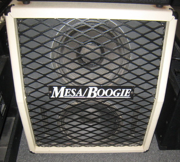 mesa boogie 2x12 guitar cabinet with metal front with white tolex reverb. Black Bedroom Furniture Sets. Home Design Ideas