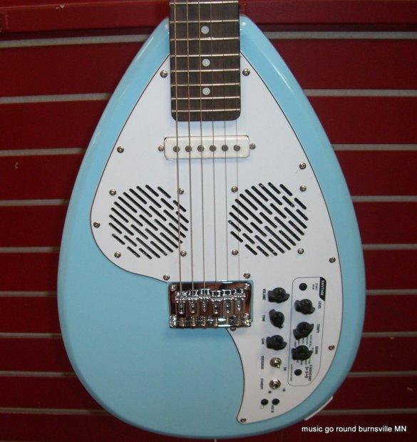 vox apache 1 teardrop seafoam blue travel guitar with built in amp and rhythms and gig bag reverb. Black Bedroom Furniture Sets. Home Design Ideas