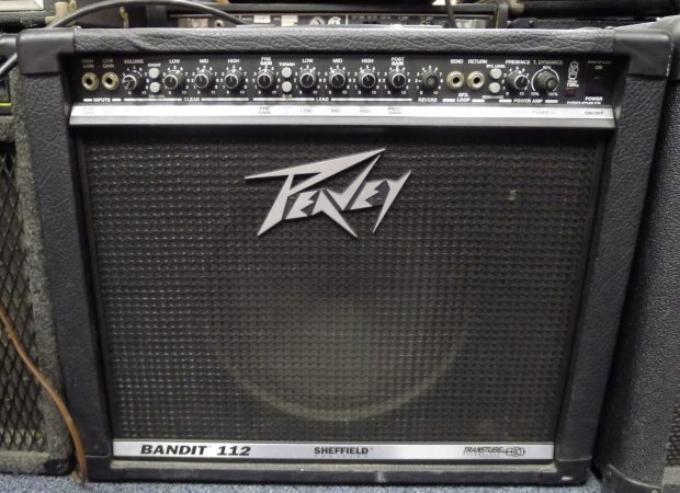 peavey bandit 112 guitar amp amplifier 100 watt fx fast shipping combo 1x12 reverb. Black Bedroom Furniture Sets. Home Design Ideas