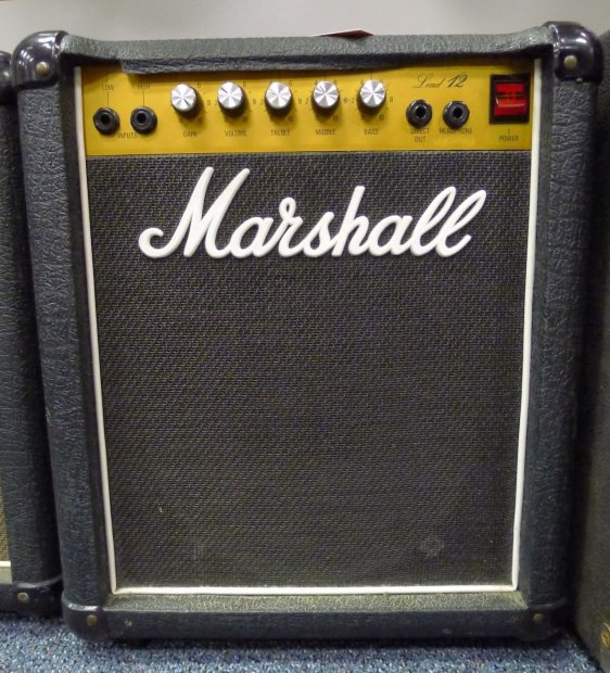 vintage 1980 39 s marshall lead 12 guitar combo amplifier 1x10 celestion 5005 amp reverb. Black Bedroom Furniture Sets. Home Design Ideas