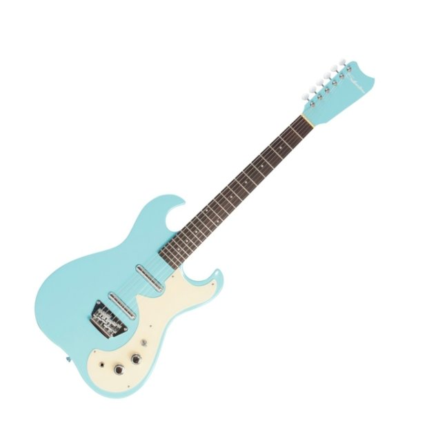 silvertone 1449 electric guitar baby blue reverb. Black Bedroom Furniture Sets. Home Design Ideas