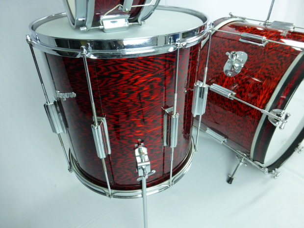 Rogers Tower 4pc Drum Set 1960 S Red Onyx Reverb