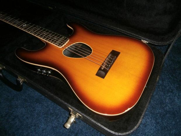 vintage 1980 39 s kramer ferrington acoustic electric guitar w case reverb. Black Bedroom Furniture Sets. Home Design Ideas