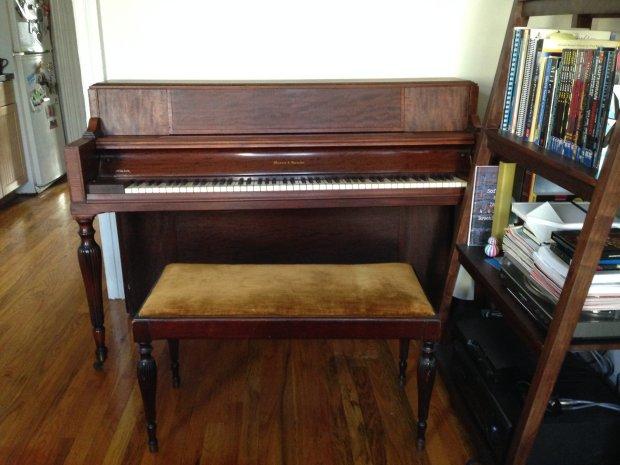 Mason Amp Hamlin Upright Console Piano 1942 Mahogany Reverb