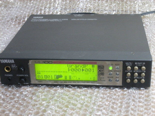 yamaha mu 100 gm xg sound module synth of simple guitar