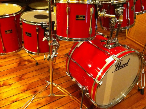 Pearl Export Series 6 Pc Drum Set Late 80s With Upgrades