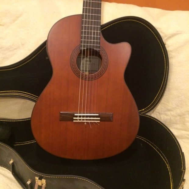 yamaha cg 150cce acoustic electric nylon string guitar 2000 39 s natural satin finish reverb. Black Bedroom Furniture Sets. Home Design Ideas