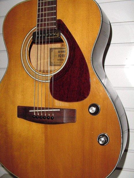 rare vintage yamaha fg 110e 1972 natural acoustic electric guitar reverb. Black Bedroom Furniture Sets. Home Design Ideas