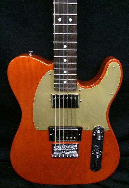 Fender Fsr Blacktop Ash Telecaster Hh Sunset Orange