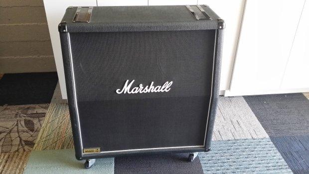 marshall 1960a jcm slash cabinet 1996 black with snakeskin cover reverb. Black Bedroom Furniture Sets. Home Design Ideas