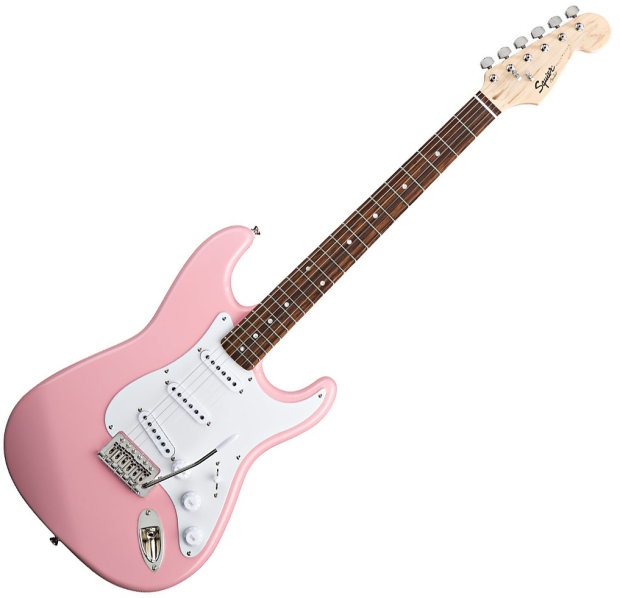 squier by fender 031 0001 570 bullet stratocaster electric guitar with tremolo pink reverb. Black Bedroom Furniture Sets. Home Design Ideas