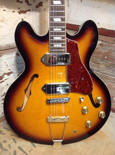 epiphone casino vintage sunburst semi hollow body electric guitar reverb. Black Bedroom Furniture Sets. Home Design Ideas