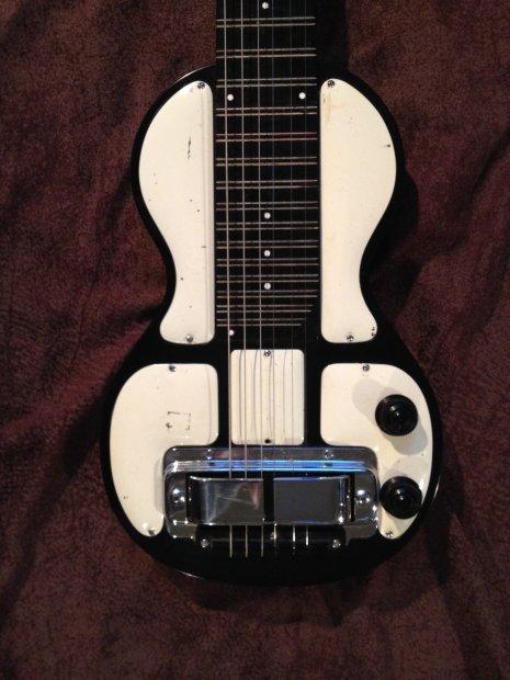 rickenbacker model b vintage lap slide steel guitar black cream reverb. Black Bedroom Furniture Sets. Home Design Ideas