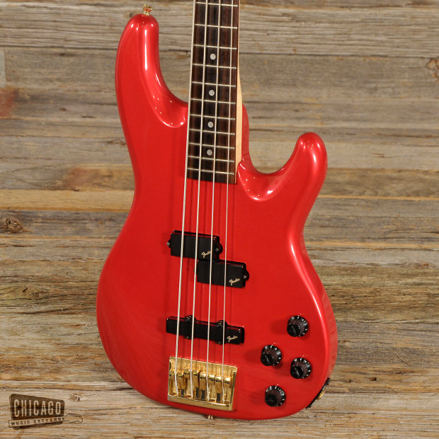 Fender Precision Bass Lyte Red 1991  S005