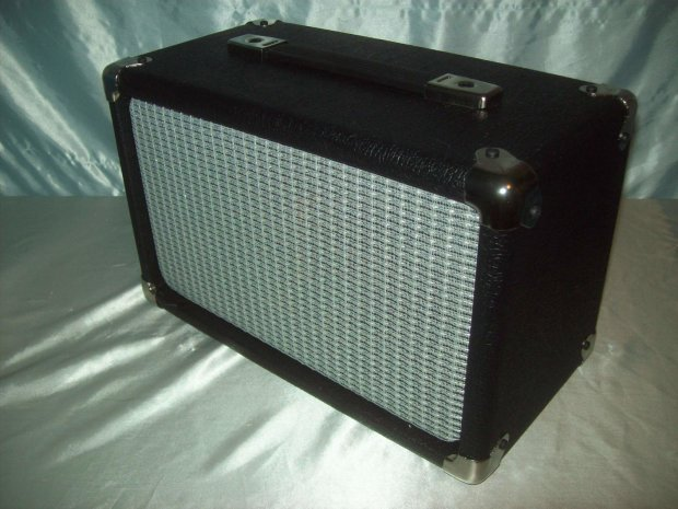 ear candy mini 2x6 guitar amp speaker extension cab cabinet fender silver face grill 100 watts. Black Bedroom Furniture Sets. Home Design Ideas