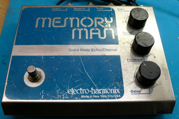 vintage electro harmonix memory man delay echo guitar effects pedal stompbox reverb. Black Bedroom Furniture Sets. Home Design Ideas