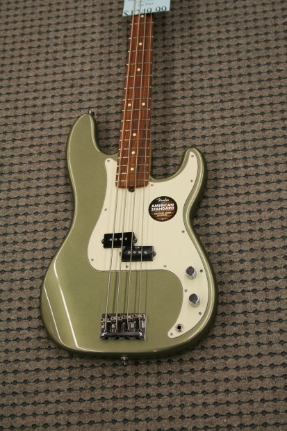 fender american standard precision bass 2013 jade pearl metallic reverb. Black Bedroom Furniture Sets. Home Design Ideas