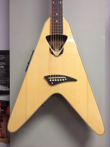 dean vco nt flying v acoustic electric guitar w gigbag reverb. Black Bedroom Furniture Sets. Home Design Ideas