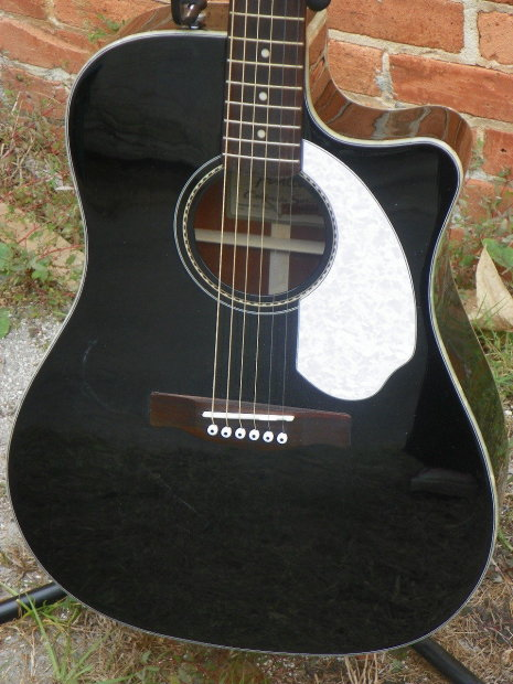 fender sonoran sce acoustic electric guitar black and white mfg refurb reverb. Black Bedroom Furniture Sets. Home Design Ideas