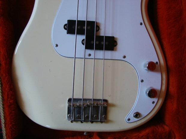 fender precision bass 1984 white 1957 neck 1962 body first reissues made reverb. Black Bedroom Furniture Sets. Home Design Ideas