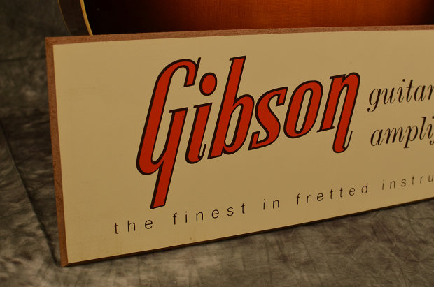 Gibson 1950s Vintage Style Guitar Stand Display Sign Reverb
