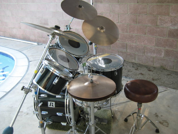 1977 Rogers Drum Set Paiste Cymbals Reverb