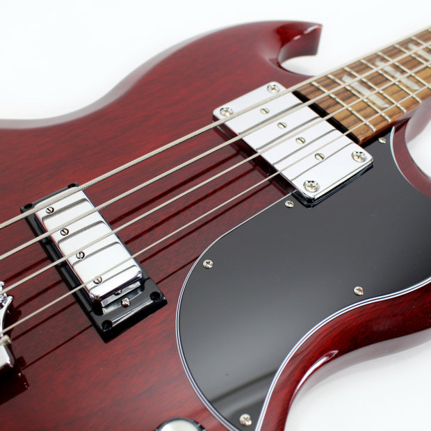 used 2014 gibson sg standard bass guitar in heritage cherry reverb. Black Bedroom Furniture Sets. Home Design Ideas