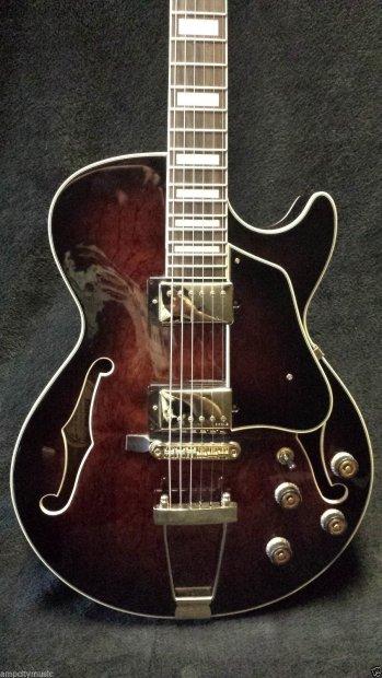 ibanez artcore ag95 hollow body electric guitar dark brown sunburst w hard shell case reverb. Black Bedroom Furniture Sets. Home Design Ideas