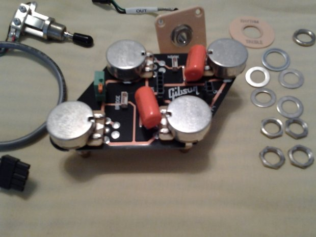 gibson les paul prewired 50s wiring harness long shaft gibson gibson 2014 les paul wiring harness, solderless ...