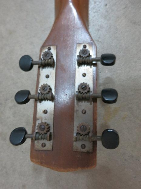 vintage 1930s prep harmony parlor guitar musical note stencil kluson tuners kay reverb. Black Bedroom Furniture Sets. Home Design Ideas