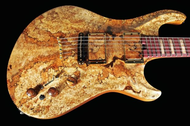 warrior dran michael spalted maple guitar with acoustic bridge 2014 natural reverb. Black Bedroom Furniture Sets. Home Design Ideas