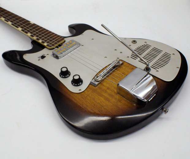 rare vintage 1965 teisco tret 110 electric guitar with working built in amp reverb. Black Bedroom Furniture Sets. Home Design Ideas