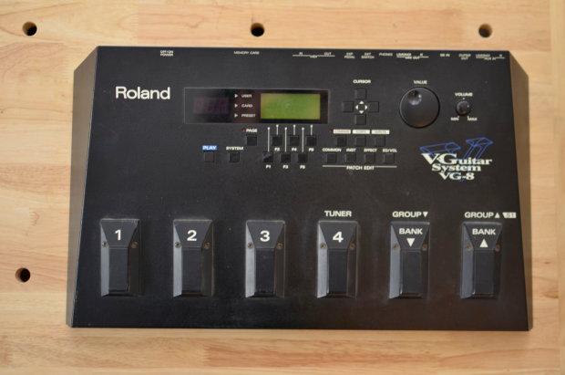 roland vg 8 v guitar multi effects processor system reverb. Black Bedroom Furniture Sets. Home Design Ideas