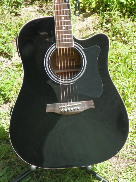 ibanez v70ce acoustic electric guitar black awesome value mfg refurbished reverb. Black Bedroom Furniture Sets. Home Design Ideas