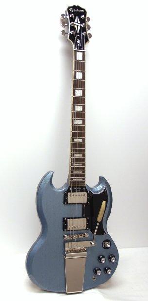 epiphone sg custom with maestro ltd ed electric guitar tv pelham blue reverb. Black Bedroom Furniture Sets. Home Design Ideas