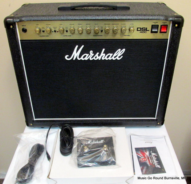 Marshall Dsl40c Combo With Box Manual Footswitch Manual Guide