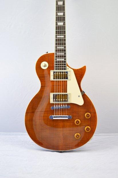 jay turser les paul style jt 220d electric guitar tiger eye reverb. Black Bedroom Furniture Sets. Home Design Ideas
