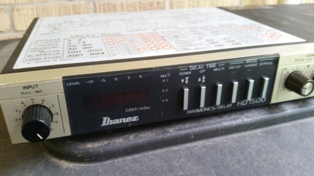vintage 1980 39 s ibanez hd 1500 harmonica delay multi effects unit reverb. Black Bedroom Furniture Sets. Home Design Ideas