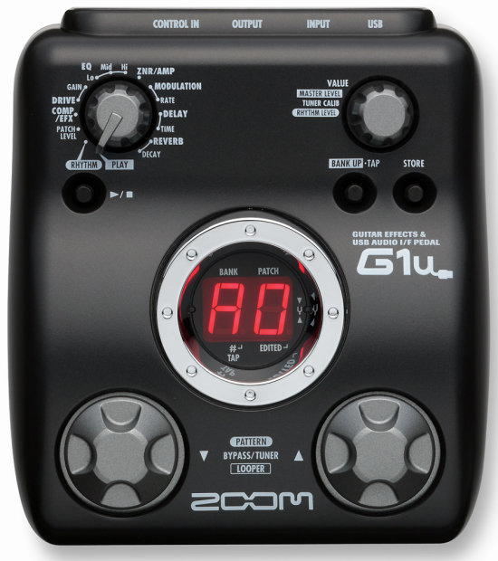 zoom g1u guitar multi effects pedal with usb zfx tools editing software ableton live lite 7. Black Bedroom Furniture Sets. Home Design Ideas