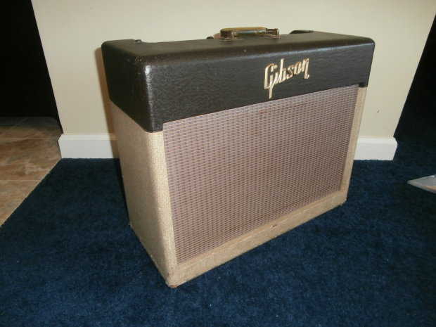 vintage 1957 gibson ga 20 two tone guitar amplifier w cover manual rare amp reverb. Black Bedroom Furniture Sets. Home Design Ideas