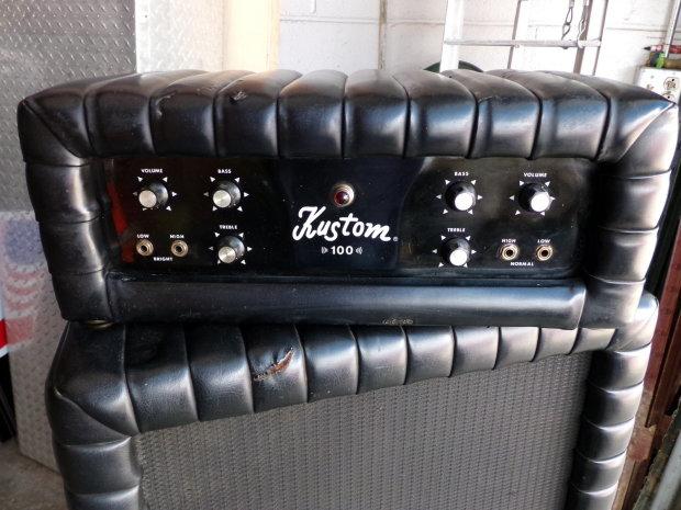 vintage kustom guitar amp head w matching cabinet k100 rare reverb. Black Bedroom Furniture Sets. Home Design Ideas
