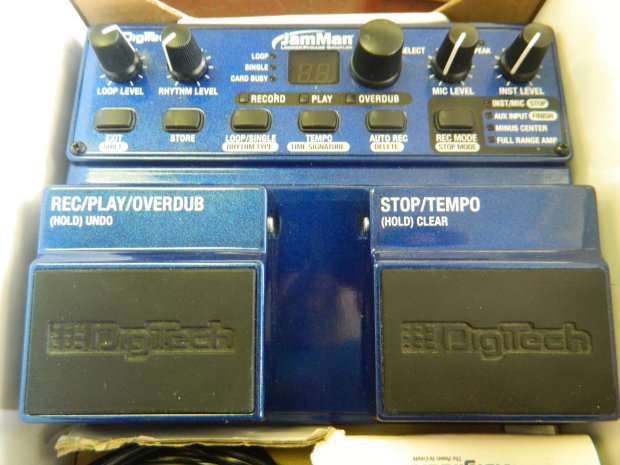 Digitech Jamman Looper Phrase Sampler With Footswitch And