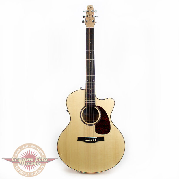 seagull performer cw mini jumbo flame maple hg acoustic electric guitar w q1 b stock reverb. Black Bedroom Furniture Sets. Home Design Ideas