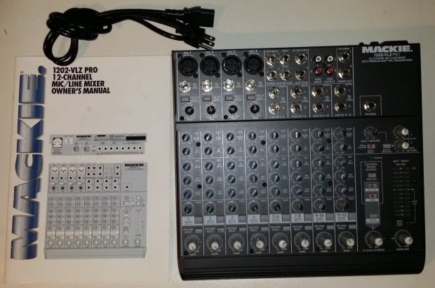mackie 1202 vlz pro 12 channel mixer with premium xdr mic preamps reverb. Black Bedroom Furniture Sets. Home Design Ideas