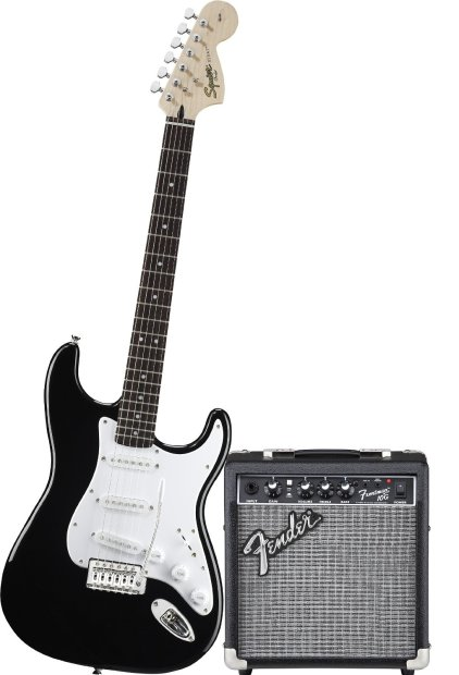 squier 0301612006 affinity stratocaster pack black with frontman 10g amplifier 2014 reverb. Black Bedroom Furniture Sets. Home Design Ideas