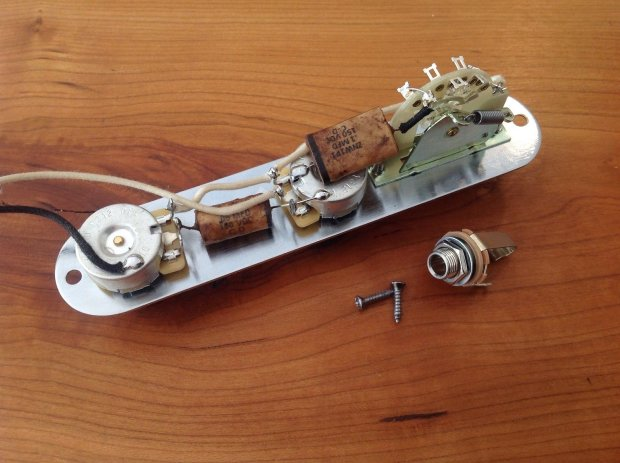 genuine new fender circuit telecaster wiring harness loaded plate reverb