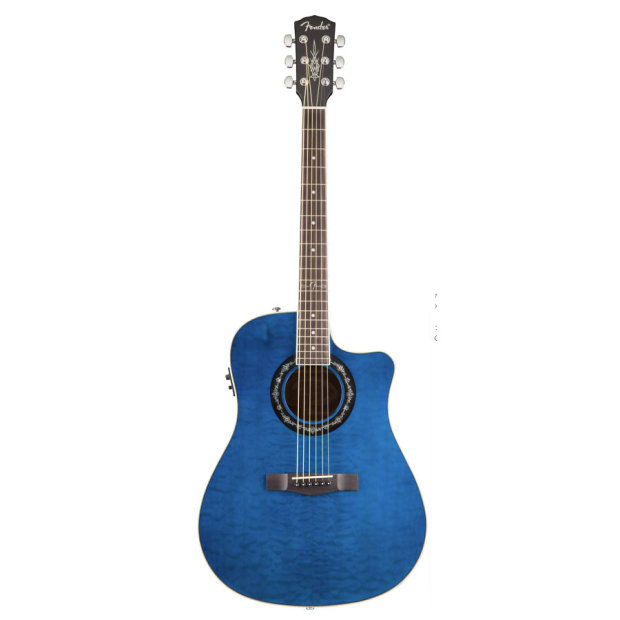 fender t bucket 300 ce transparent blue 6 string quilted maple acoustic electric guitar image. Black Bedroom Furniture Sets. Home Design Ideas
